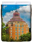 Asheville City Hall Duvet Cover by John Haldane