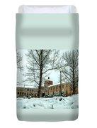 Asheville High School During Winter Duvet Cover