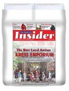 Asheville Insider Magazine Duvet Cover