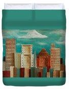 Asheville Skyline Duvet Cover