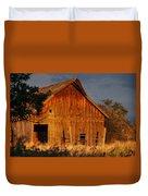 Ashland Barn In Evening Light Duvet Cover