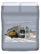 Ashland Trains In The Snow Duvet Cover