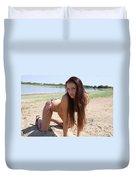 Ashley Hawaiian Flower Print Bikini 2 Duvet Cover