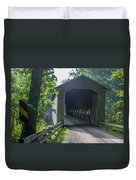 Ashtabula Collection - Middle Road Covered Bridge 7k01959 Duvet Cover