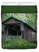 Ashtabula Collection - Riverdale Road Covered Bridge 7k02981 Duvet Cover