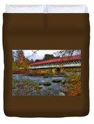 Ashuelot Covered Bridge 2 Duvet Cover by Joann Vitali