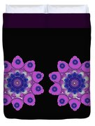 Asian Purple Orchids Duvet Cover