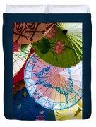 Asian Umbrellas Duvet Cover