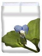 Asiatic Day Flower Duvet Cover