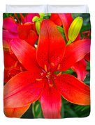 Asiatic Hybrid Lily Duvet Cover