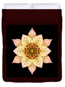 Asiatic Lily Flower Mandala Duvet Cover