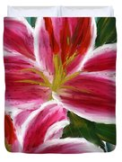 Asiatic Lily- Asiatic Lily Paintings- Pink Paintings Duvet Cover
