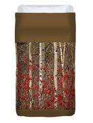 Aspen And Berries Duvet Cover