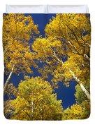 Aspen Grove In Fall Duvet Cover