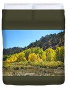 Aspen Grove In The Fall Duvet Cover