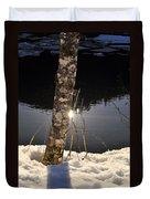 Alder In Winter Duvet Cover