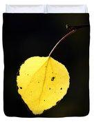 Aspen Leaf  In Fall Duvet Cover