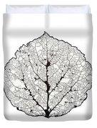 Aspen Leaf Skeleton 1 Duvet Cover