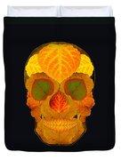 Aspen Leaf Skull 2 Black Duvet Cover