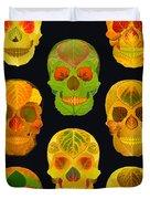 Aspen Leaf Skulls Poster 2014 Black Duvet Cover