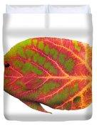 Aspen Leaf Tropical Fish 1 Duvet Cover