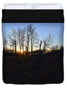 Aspen Prairie Sunset Duvet Cover