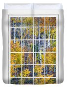 Aspen Tree Magic Cottonwood Pass White Window Portrait View Duvet Cover by James BO  Insogna