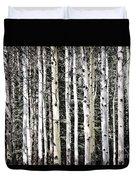 Aspen Tree Trunks Duvet Cover
