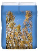 Aspen Trees In The Fall Duvet Cover