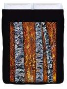White Trees  Original Oil Painting  Duvet Cover