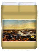 Assault Of Contreras 1851 Duvet Cover