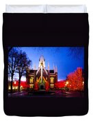 Assembly Hall Slc Temple Duvet Cover by La Rae  Roberts