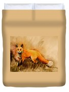 Assessing The Situation Antiqued Duvet Cover