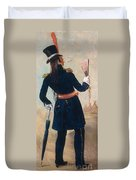 Assiniboine Warrior In Regimental Duvet Cover