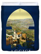 Assisi Italy Duvet Cover by Georgia Fowler
