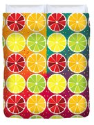 Assorted Citrus Pattern Duvet Cover