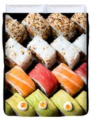 Assortment Of Sushi Duvet Cover