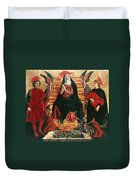 Assumption Of Mary With Sts Minias And Julian Duvet Cover