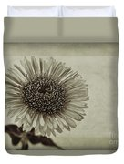 Aster With Textures Duvet Cover