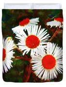 Asters Bright And Bold Duvet Cover