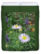Asters In Close-up Duvet Cover