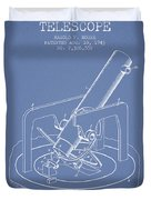 Astronomical Telescope Patent From 1943 - Light Blue Duvet Cover