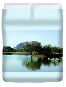 At Fountain Park - View At Red Rock Duvet Cover