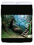 At Home In Her Forest Keep - Pacific Northwest Duvet Cover