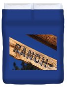 At Home On The Ranch Duvet Cover
