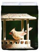 At My Birdfeeder Duvet Cover
