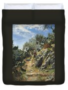 At Noon On A Cactus Plantation In Capri Duvet Cover