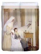 At Notre-dame Du Perpetuel Bon Secours Hospital Duvet Cover