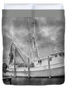 At Rest In The Harbor Duvet Cover