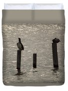 Seadrift Texas Birds At Rest Duvet Cover